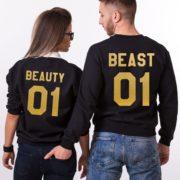 Beauty 01, Beast 01, Sweatshirts, Black/Gold