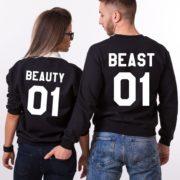 Beauty 01, Beast 01, Sweatshirts, Black/White