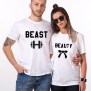 Beauty Beast with ribbon and dumbbell, White/Black