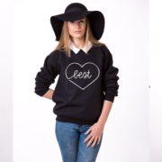 Best Sweatshirt, Black/White