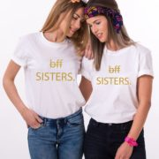 BFF Sisters, White/Gold