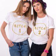 Bitch 1, Bitch 2, White/Gold