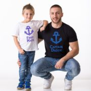 Captain Daddy, First Mate, White/Blue, Black/Blue