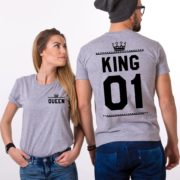 King Queen 01 Crowns, Double Sided, Grey/Black
