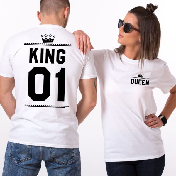 King Queen 01 Crowns, Double Sided, White/Black