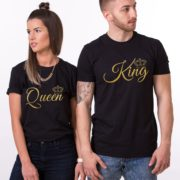 King, Queen, Small Crowns, Black/Gold