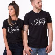 King, Queen, Small Crowns, Black/White