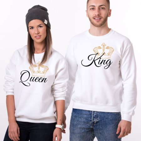 King Sweatshirt and Queen Sweatshirt, Matching Couples Sweatshirts
