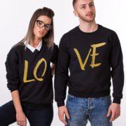 LOVE, Sweatshirts, Black/Gold