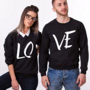 LOVE, Sweatshirts, Black/White