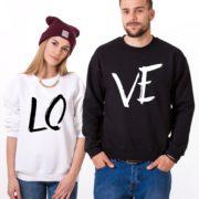 LOVE, Sweatshirts, Black/White, White/Black