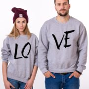 LOVE, Sweatshirts, Gray/Black