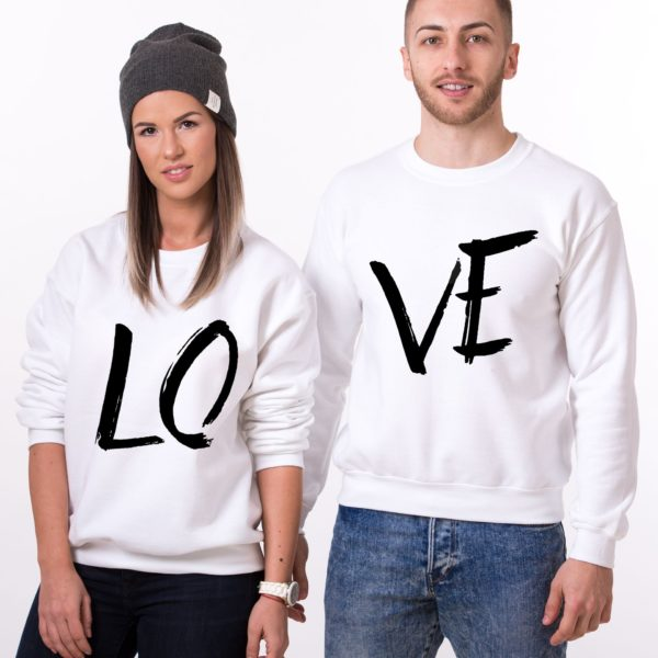 LOVE, Sweatshirts, White/Black