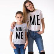 Me, Mini Me, Gray/Black, White/Black