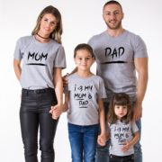 Mom, Dad, I Love My Mom and Dad, Gray/Black