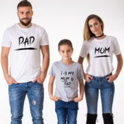 Mom, Dad, I Love My Mom and Dad, White/Black, Gray/Black
