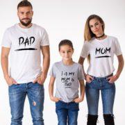 Mom, Dad, I Love My Mom and Dad, White/Black, Gray/Black