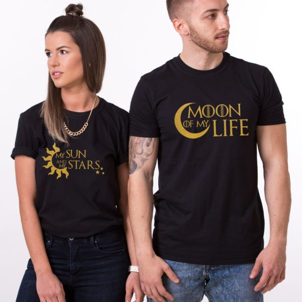 Moon of My Life, My Sun and My Stars, Shirts, Black/Gold
