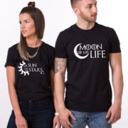 Moon of My Life, My Sun and My Stars, Shirts, Black/White