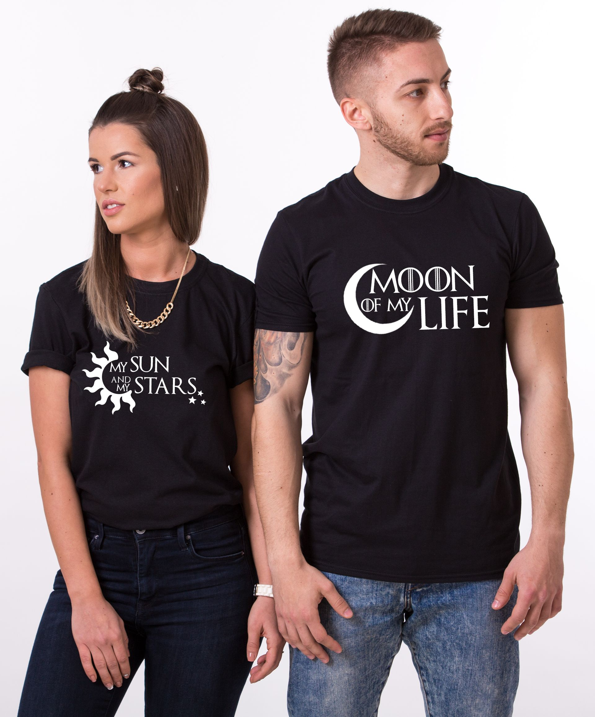 Valentine's day gift,His and hers shirts,His and hers,Couples shirts, Love shirts,Couple t-shirts,Moon of my life,My Sun and my Stars UNISEX