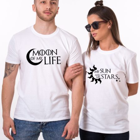 Moon of My Life Shirt, My Sun and My Stars Shirt, Matching Couples Shirts