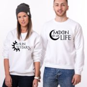 Moon of My Life, My Sun and My Stars, Sweatshirts, White/Black
