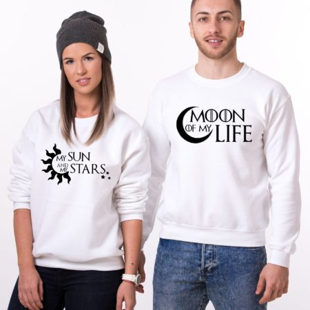 Moon of My Life Sweatshirt, My Sun and My Stars Sweatshirt, Matching Couples Sweatshirts