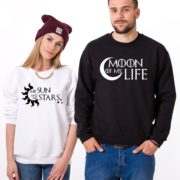 Moon of My Life, My Sun and My Stars, Sweatshirts, White/Black, Black/White
