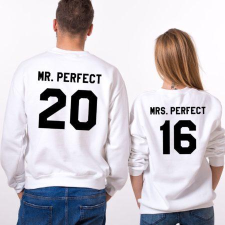 Matching Sweatshirts, Mr. Perfect 20, Mrs. Perfect 16