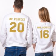 Mr. Perfect, Mrs. Perfect, White/Gold