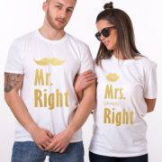Mr. Right, Mrs. Always Right, White/Gold, White/Gold