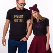 Peanut Butter Jelly Shirts, Glitter, Matching Couples Shirts