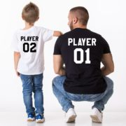 Player 01, Player 02, Matching Daddy and Me Shirts, Father Son Shirt