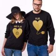 Plug and Play, Sweatshirts, Black/Gold
