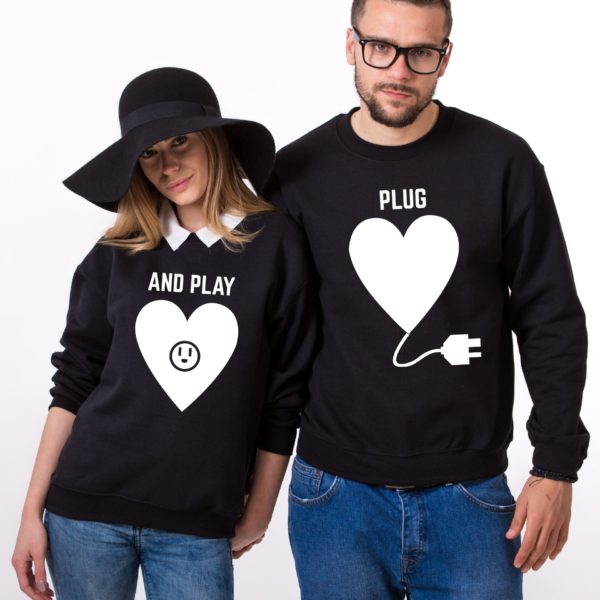 Plug and Play, Sweatshirts, Black/White