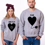 Plug and Play, Sweatshirts, Gray/Black