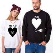 Plug and Play, Sweatshirts, White/Black, Black/White