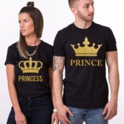 Prince Princess, Big Crowns, Black/Gold