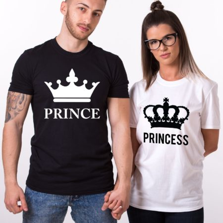 Prince Princess Shirts, Crowns, Matching Couples Shirts