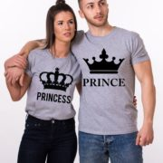 Prince Princess, Big Crowns, Gray/Black