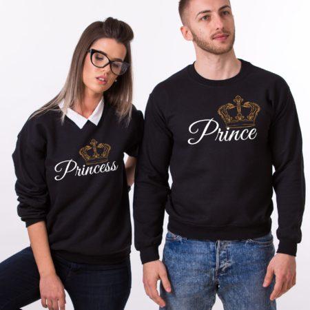 Matching Couples Sweatshirts, Prince, Princess, Crowns