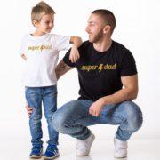 Super Dad Super Kid, White/Gold, Black/Gold