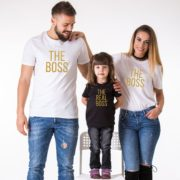The Boss The Real Boss, White/Gold, Black/Gold