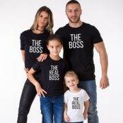 The Boss The Real Boss Shirts, Matching Family Shirts