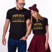 This Guy Loves his Girlfriend, This Girl Loves her Boyfriend, Black/Gold