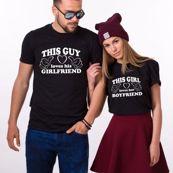 This Guy Loves his Girlfriend, This Girl Loves her Boyfriend, Black/White