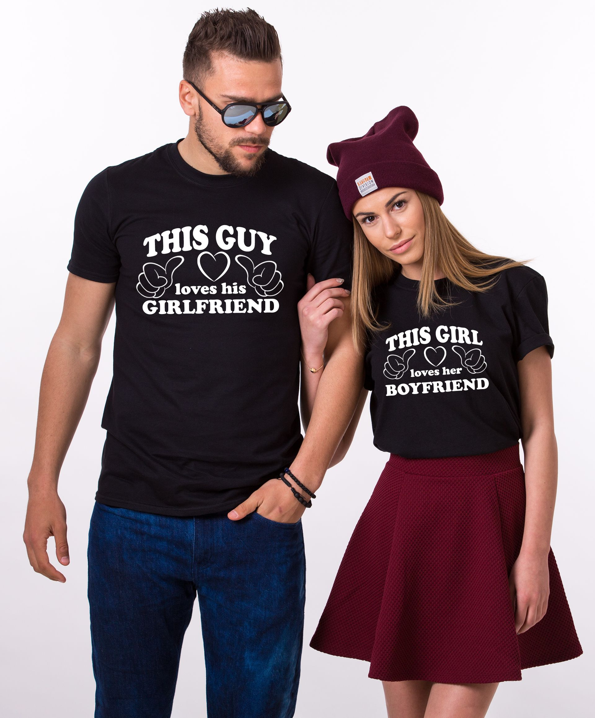 Couple shirts this guy loves his girlfriend this girl This guy has an awesome girlfriend shirt
