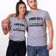 This Guy Loves his Girlfriend, This Girl Loves her Boyfriend, Gray/Black