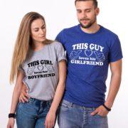 This Guy Loves his Girlfriend, This Girl Loves her Boyfriend, Gray/Black, Blue/White