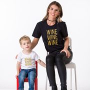 Wine, Whine, Black/Gold, White/Gold